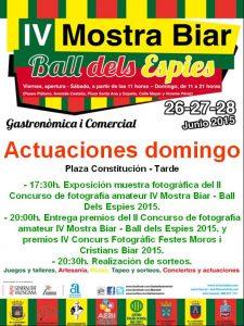 mostra-biar-actuaciones-exosiciones-#MostraBiar15-domingo-28-junio-2015